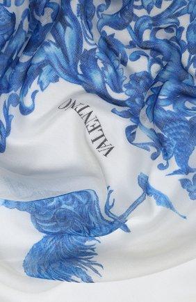 Женская шаль из кашемира и шелка valentino garavani VALENTINO кремвого цвета, арт. UW2EB104/GSP | Фото 2