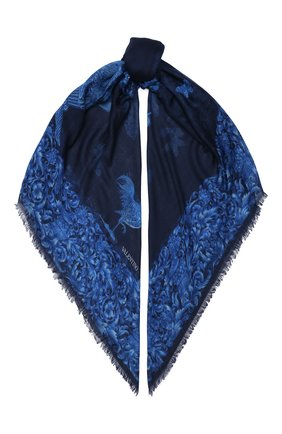 Женская шаль из кашемира и шелка valentino garavani VALENTINO синего цвета, арт. UW2EB104/GSP | Фото 1