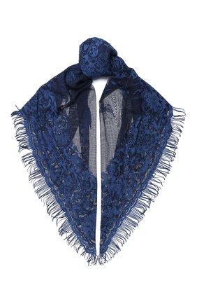 Женская хлопковая шаль valentino garavani VALENTINO синего цвета, арт. UW2EB105/IAF | Фото 1