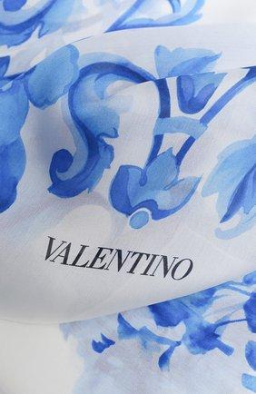 Мужские шелковый шарф valentino garavani VALENTINO белого цвета, арт. UW2ED007/AQJ   Фото 2