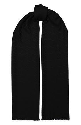 Женский шарф из шелка и кашемира  VALENTINO черного цвета, арт. UW2ED007/NID   Фото 1 (Материал: Шелк, Шерсть, Текстиль, Кашемир)