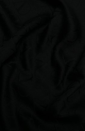 Женский шарф из шелка и кашемира  VALENTINO черного цвета, арт. UW2ED007/NID   Фото 2 (Материал: Шелк, Шерсть, Текстиль, Кашемир)