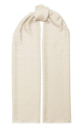 Мужские шарф из шелка и кашемира valentino garavani VALENTINO кремвого цвета, арт. UW2ED007/NID   Фото 1