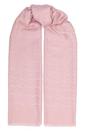 Мужские шарф из шелка и кашемира valentino garavani VALENTINO светло-розового цвета, арт. UW2ED007/NID | Фото 1