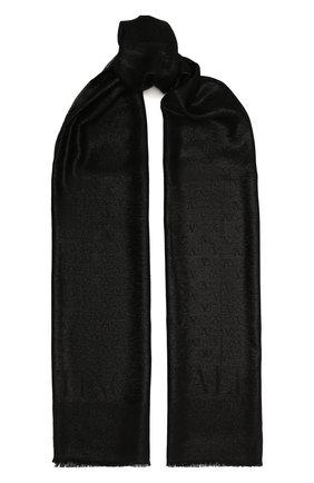 Мужские шарф valentino garavani VALENTINO черного цвета, арт. UW2ED007/USS   Фото 1