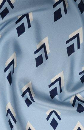 Женский шелковый платок valentino garavani VALENTINO голубого цвета, арт. UW2EI114/VMM | Фото 2