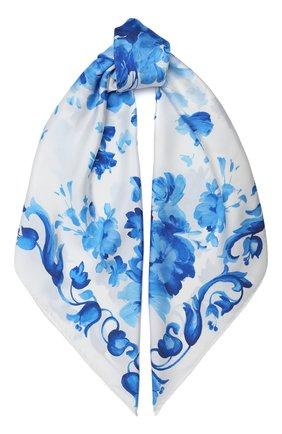Женский шелковый платок valentino garavani VALENTINO кремвого цвета, арт. UW2EI114/ZPJ | Фото 1