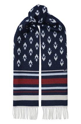 Мужские шарф из шерсти и кашемира valentino garavani VALENTINO синего цвета, арт. UW2ET028/NXM   Фото 1