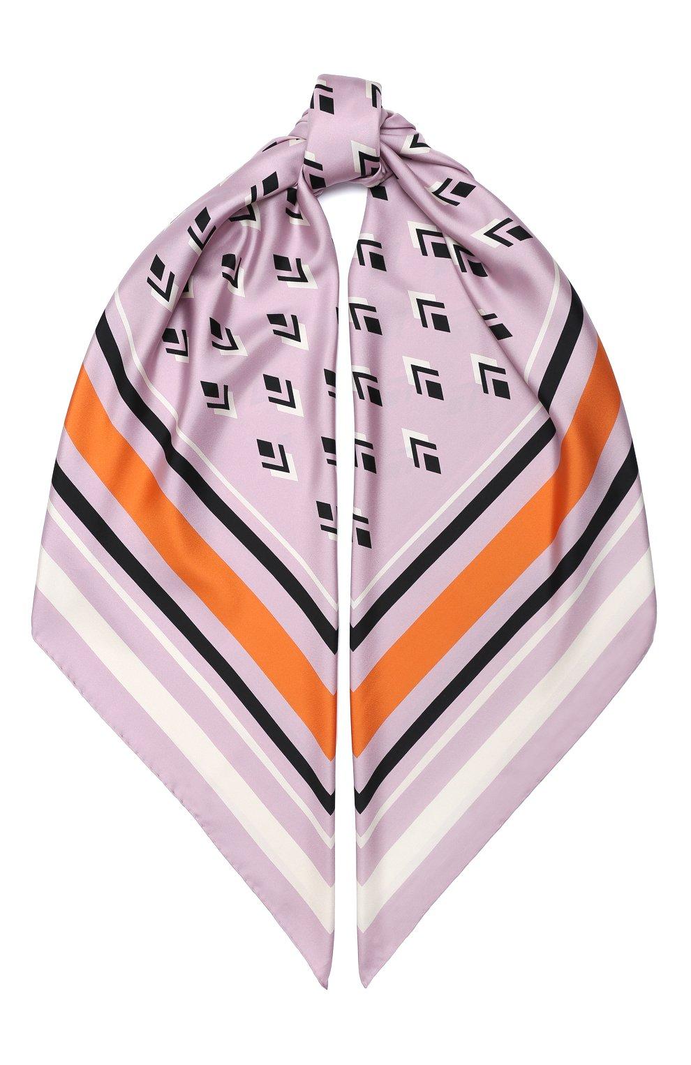 Женский шелковая шаль valentino garavani VALENTINO розового цвета, арт. UW2EB104/FHJ | Фото 1