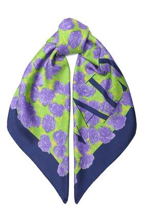 Женский шелковый платок valentino garavani VALENTINO фиолетового цвета, арт. UW2EI114/WBH | Фото 1