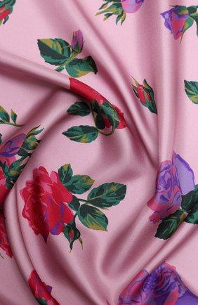 Женский шелковый платок valentino garavani VALENTINO розового цвета, арт. UW2EI114/PSC | Фото 2