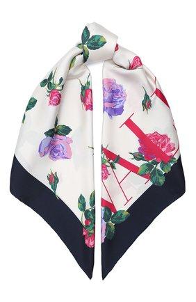 Женский шелковый платок valentino garavani VALENTINO кремвого цвета, арт. UW2EI114/PSC | Фото 1