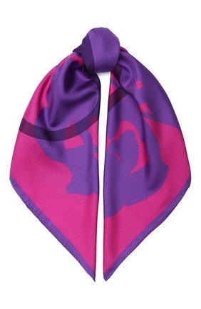 Женский шелковый платок valentino garavani VALENTINO фуксия цвета, арт. UW2EI114/KNA | Фото 1