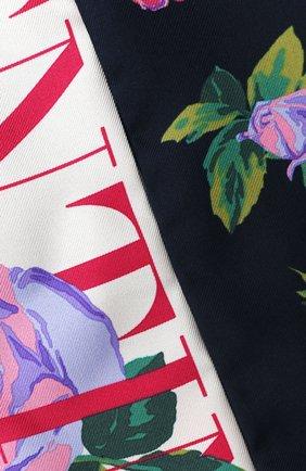 Мужские шелковый шарф valentino garavani VALENTINO черного цвета, арт. UW2E6017/MRM   Фото 2