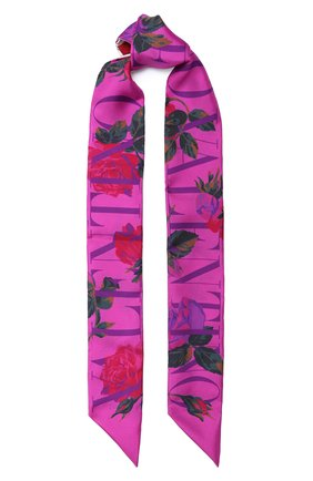 Мужские шелковый шарф valentino garavani VALENTINO кремвого цвета, арт. UW2E6017/MRM   Фото 1