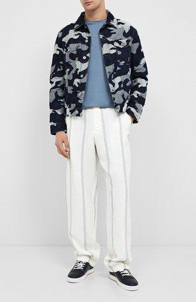 Мужской брюки из вискозы и льна GIORGIO ARMANI бежевого цвета, арт. 0SGPP0BT/T00RJ | Фото 2