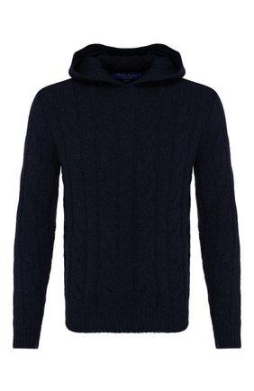 Мужской кашемировый свитер RALPH LAUREN темно-синего цвета, арт. 790706393 | Фото 1