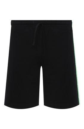 Мужские хлопковые шорты DIRK BIKKEMBERGS черного цвета, арт. VBKT04857 | Фото 1