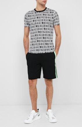 Мужские хлопковые шорты DIRK BIKKEMBERGS черного цвета, арт. VBKT04857 | Фото 2