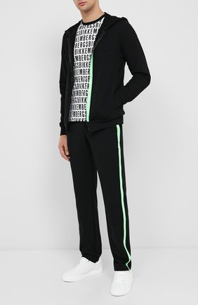 Мужской хлопковые брюки DIRK BIKKEMBERGS черного цвета, арт. VBKT04856 | Фото 2