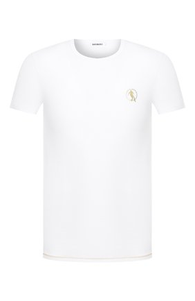 Мужские хлопковая футболка DIRK BIKKEMBERGS белого цвета, арт. VBKT04830 | Фото 1