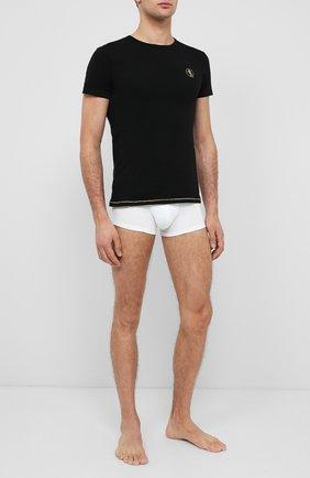 Мужские хлопковая футболка DIRK BIKKEMBERGS черного цвета, арт. VBKT04830 | Фото 2