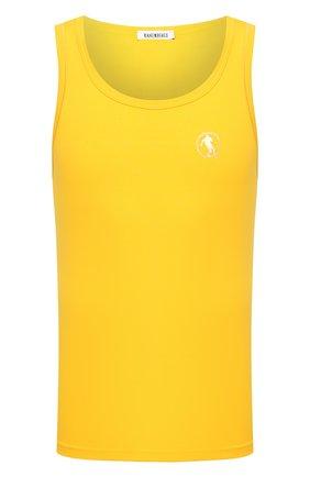Мужская хлопковая майка DIRK BIKKEMBERGS желтого цвета, арт. VBKT04829 | Фото 1