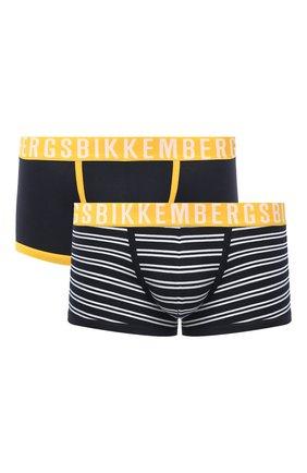 Мужские комплект из двух боксеров DIRK BIKKEMBERGS темно-синего цвета, арт. VBKT04778 | Фото 1