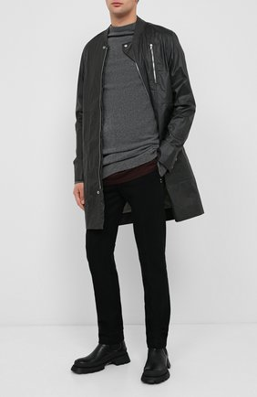 Мужской кашемировый свитер RICK OWENS серого цвета, арт. RU20F3682/WSBR | Фото 2