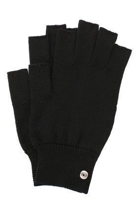 Мужские шерстяные перчатки RICK OWENS черного цвета, арт. RU20F3485/M   Фото 1