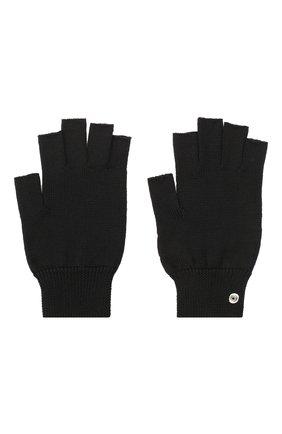 Мужские шерстяные перчатки RICK OWENS черного цвета, арт. RU20F3485/M   Фото 2