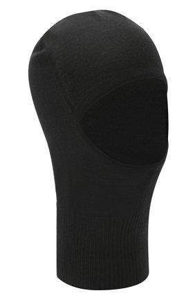 Мужская шерстяная шапка-балаклава RICK OWENS черного цвета, арт. RU20F3478/M   Фото 1