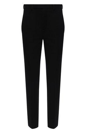 Мужские брюки из хлопка и шерсти RICK OWENS черного цвета, арт. RU20F3374/WCF | Фото 1