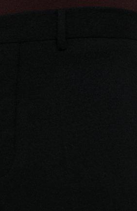 Мужские брюки из хлопка и шерсти RICK OWENS черного цвета, арт. RU20F3374/WCF   Фото 5