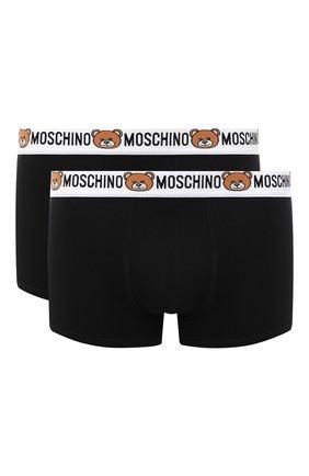 Мужские комплект из двух боксеров MOSCHINO черного цвета, арт. A4770/8119 | Фото 1