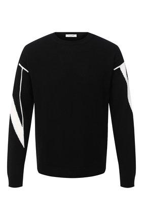 Мужской кашемировый свитер VALENTINO черного цвета, арт. UV3KC09K6LJ | Фото 1