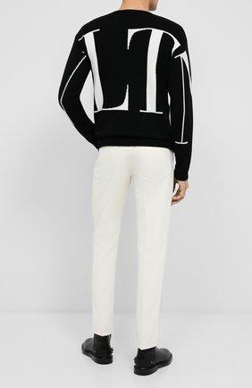 Мужской кашемировый свитер VALENTINO черного цвета, арт. UV3KC09K6LJ | Фото 2