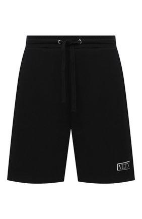 Мужские хлопковые шорты VALENTINO черного цвета, арт. UV3MD02P6LB | Фото 1