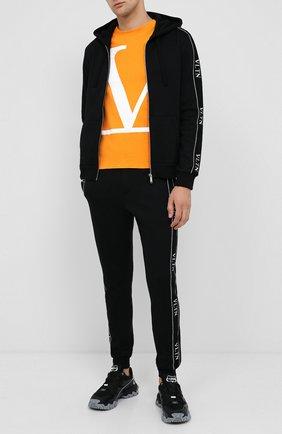 Мужская хлопковая толстовка VALENTINO черного цвета, арт. UV3MF15V6LP | Фото 2