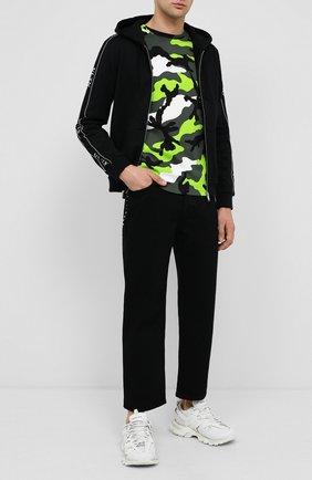 Мужская хлопковая футболка VALENTINO зеленого цвета, арт. UV3MG00W3M0 | Фото 2