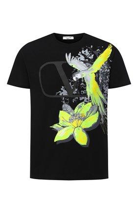 Мужская хлопковая футболка VALENTINO черного цвета, арт. UV3MG07X6JG | Фото 1