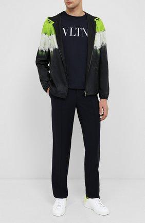 Мужской шерстяные брюки VALENTINO синего цвета, арт. UV3RB52225S | Фото 2