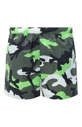 Мужские плавки-шорты  VALENTINO зеленого цвета, арт. UV3UH0285EB | Фото 1