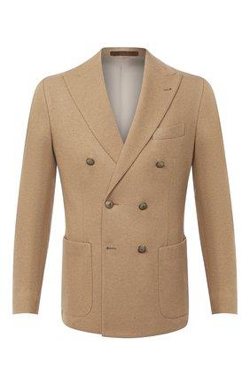 Мужской шерстяной пиджак ELEVENTY PLATINUM бежевого цвета, арт. B75GIAB02 TES0B041   Фото 1