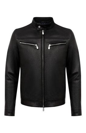 Мужская кожаная куртка ELEVENTY PLATINUM черного цвета, арт. B75GBTB18 PEL0B001 | Фото 1