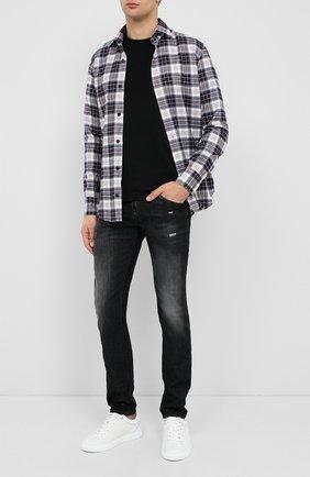 Мужская хлопковая рубашка ELEVENTY PLATINUM темно-синего цвета, арт. B75CAMA18 TES0B077 | Фото 2