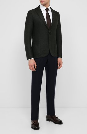 Мужской шерстяной пиджак ELEVENTY темно-зеленого цвета, арт. B70GIAA01 TES0B118   Фото 2