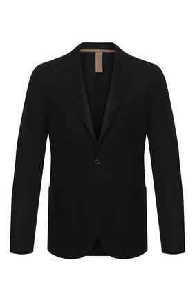 Мужской шерстяной пиджак ELEVENTY черного цвета, арт. B70GIAA01 JAC24018 | Фото 1