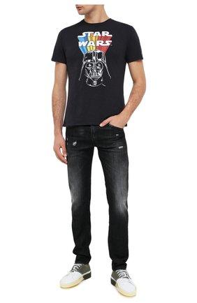 Мужская хлопковая футболка MC2 SAINT BARTH темно-серого цвета, арт. STBM SKYLAR/SKY0001 | Фото 2