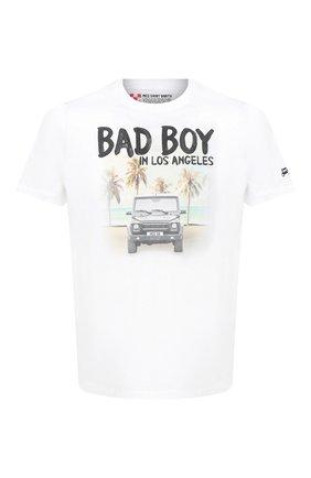 Мужская хлопковая футболка MC2 SAINT BARTH белого цвета, арт. STBM TSHIRT MAN/TSHM001   Фото 1